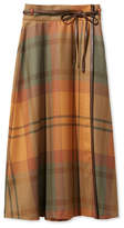 L.L. Bean Signature Wool Wrap Skirt, Plaid