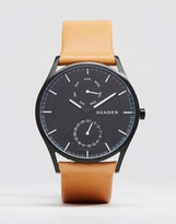 Skagen Holst Quartz Leather Watch In Tan 40mm