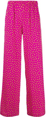 P.A.R.O.S.H. Heart Print Wide Trousers