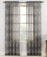 "Lichtenberg No. 918 Xander 59"" x 63"" Tilework-Print Sheer Voile Rod Pocket Curtain Panel"