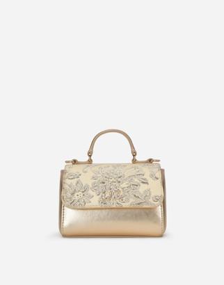 Dolce & Gabbana Handmade Brocade And Laminated Handbag