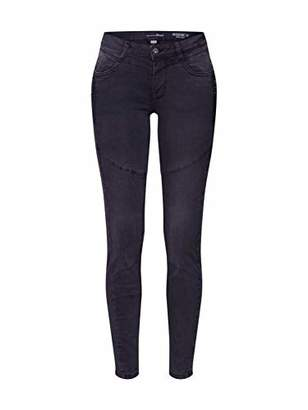 Tom Tailor Women's Biker Jona Extra Skinny Jeans, (Black Denim 10240), 32W / 30L