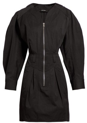 Isabel Marant Honey Zipped Cotton Mini Dress - Black