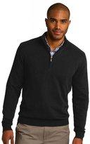 Port Authority Men's 1/2 Zip Sweater L Heather Burgundy