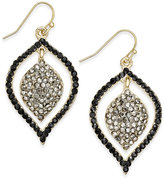 INC International Concepts Gold-Tone Pavé Orbital Drop Earrings, Only at Macy's