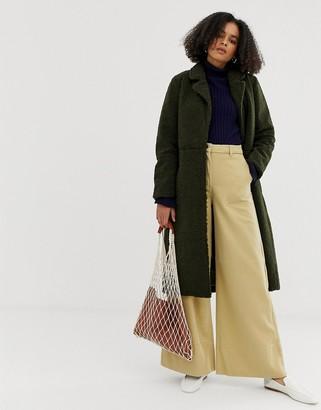 Minimum belted wool coat-Green