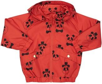 Mini Rodini Panda Print Nylon Rain Jacket