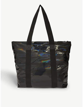 Rains Rush holographic waterproof tote