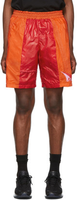 Heron Preston SSENSE Exclusive Orange and Red JUMP Shorts