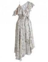 Zimmermann Stranded Wrap Midi Dress