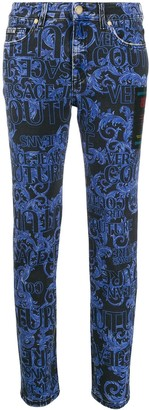 Versace Jeans Couture Barocco print skinny jeans