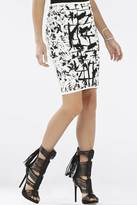 BCBGMAXAZRIA Pavel Printed Skirt