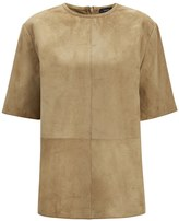 Joseph Cashmere Suede Bento Tee in Army