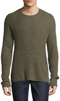 John Varvatos Waffle Stitch Drop Shoulder Sweater
