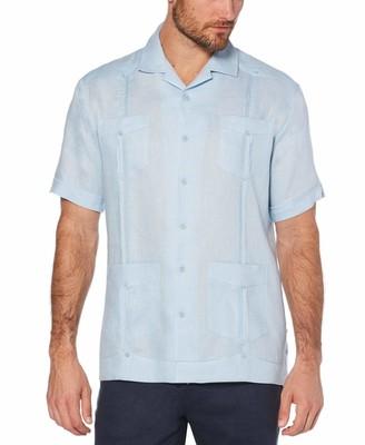 Cubavera Big & Tall Linen Classic Guayabera Shirt