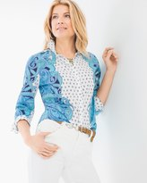 Chico's Paisley Mirror Shirt