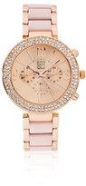 New York & Co. Sparkling Pave Bracelet Watch