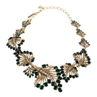 Oscar de la Renta Green Crystal Necklaces