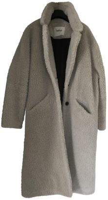 BA&SH Ecru Faux fur Coats
