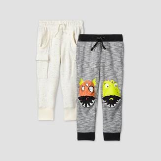 Cat & Jack Toddler Boys' 2pk Monster/Pocket Knee Pull-On-Pants - Cat & JackTM
