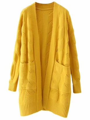 Goodnight Macaroon 'Lucy' Cable Knit Long Open Cardigan (2 Colors)
