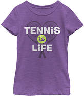Fifth Sun Purple Berry 'Tennis is Life' Tee - Girls