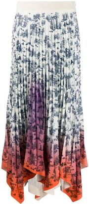 Ssheena High-Waisted Pleated Skirt