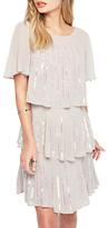 Miss Selfridge Tierred Sequin Angel Dress, Grey