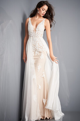 Jovani Fitted Informal Wedding Gown