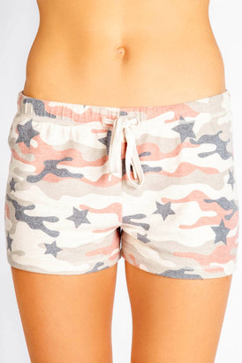 PJ Salvage Pink Camo & Star Short Multi S