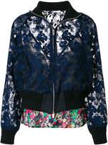 Sacai floral lace bomber jacket