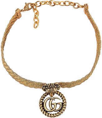 Gucci Lion Head Necklace in Gold   FWRD