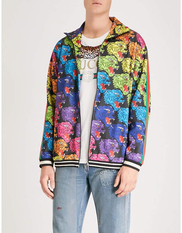 Gucci Panther jersey jacket