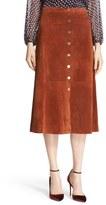 Diane von Furstenberg Women's 'Gracelynn' Suede Midi Skirt