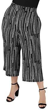 Maree Pour Toi Plus Printed Cropped Wide-Leg Pants