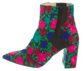 Jerome C. Rousseau Embroidered Ankle Boots