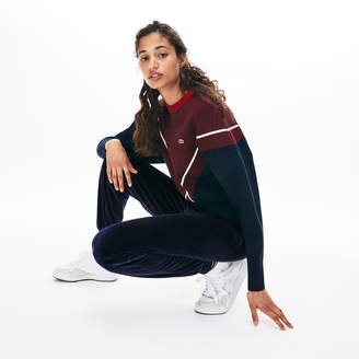 Lacoste Women's Tapered Velour Terry Sweatpants
