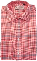 Thomas Pink Theodore Classic Fit Houndstooth Plaid Dress Shirt