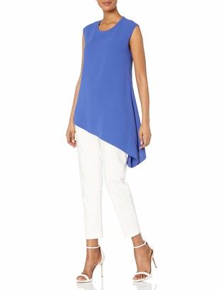 Anne Klein Women's Fluid Crepe Assymetrical Blouse