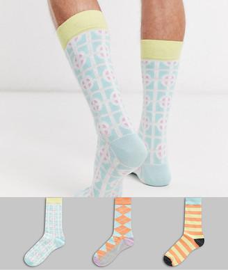 Happy Socks HS By 3 pack socks