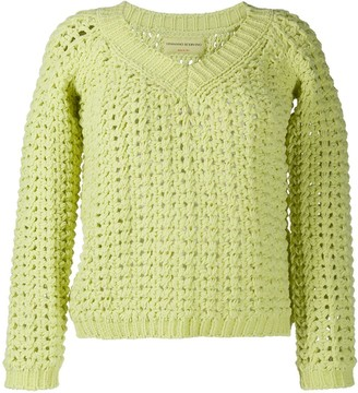 Ermanno Scervino chunky knit V-neck jumper