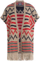 Woolrich Printed Cape with Alpaca and Wool