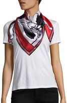 Givenchy Bambi Negative Silk Twill Scarf