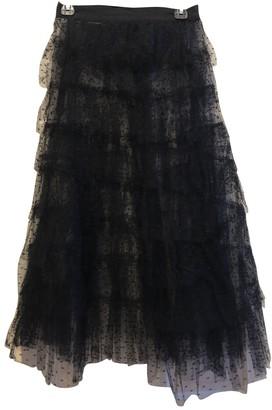 Philosophy di Lorenzo Serafini Black Silk Skirt for Women