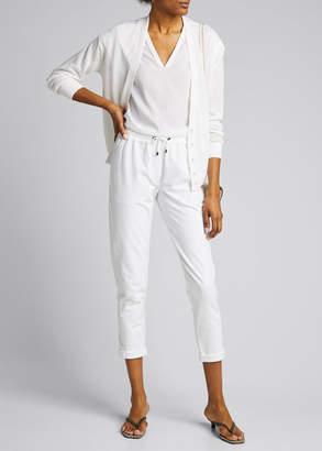 Brunello Cucinelli Sequined Linen/Silk Snap-Front Cardigan