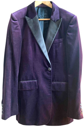Burberry Purple Velvet Jackets