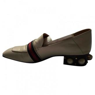 Gucci Peyton White Leather Heels