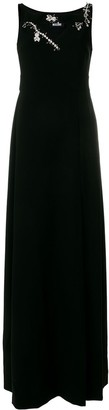 Boutique Moschino Embellished Neck Gown