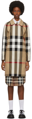 Burberry Beige Check Camden Trench Coat