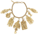 Chloé Hammered Gold-tone Charm Bracelet - one size